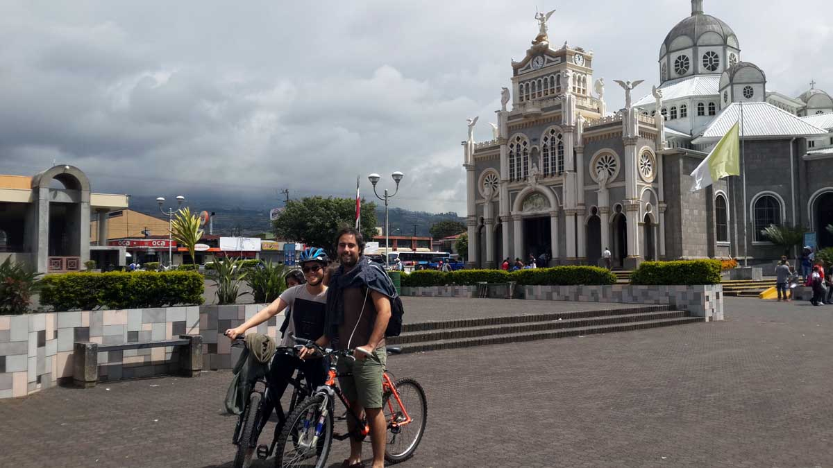 Riding near Basilica of Our Lady of the Angels